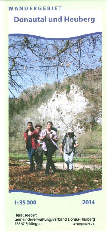 Wanderkarte Wandergebiet Donautal und Heuberg